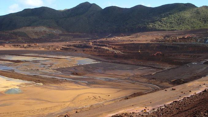 Área de almacenaje de relaves de minería